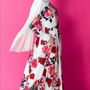 Beautiful Floral Modest Long Dress HAYAH collectio